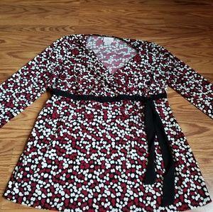 Motherhood Maternity blouse dot pattern